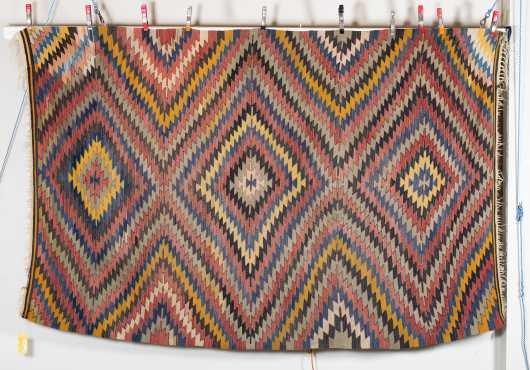 20thC Diamond Design Kilim Oriental Rug
