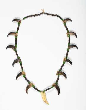 Native American Bear Claw and Tooth Necklace