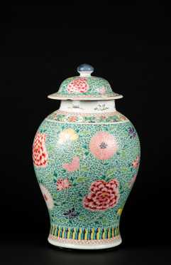 Chinese Baluster Form Jar