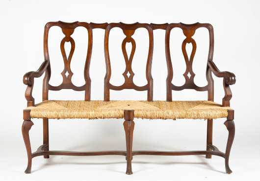 Queen Anne Style Settee