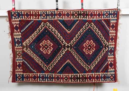 20thC Kilim Scatter Size Oriental Rug