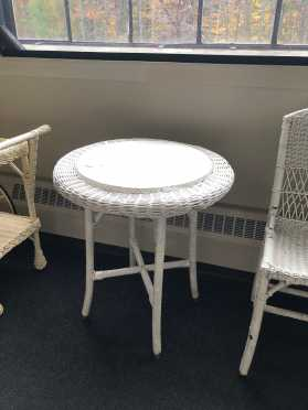 Old Round Wicker, Center Table