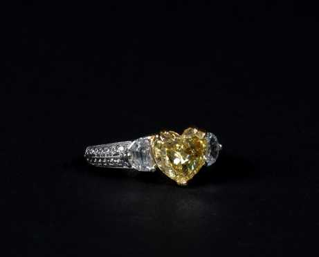 Natural Fancy Yellow Diamond Ring *AVAILABLE FOR OFFERS*