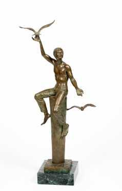 Charles Parks, Delaware (1922-2012) Bronze Sculpture