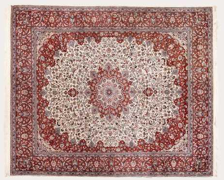 20thC Kashan Room Size Oriental Rug