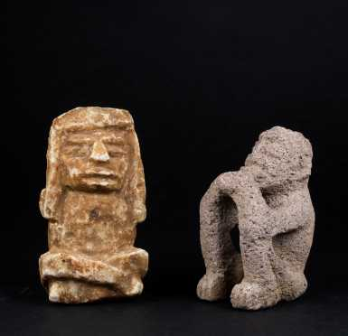 Two Pre Columbian Seated Figures *AVAILABLE FOR REASONABLE OFFERS*