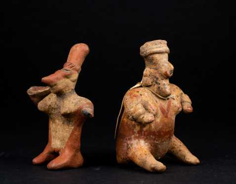 Two Pre Columbian Colima Figures