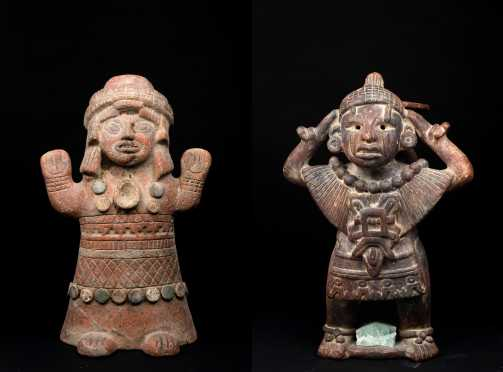 Two Large Pre Columbian Style Figures *AVAILABLE FOR REASONABLE OFFERS*
