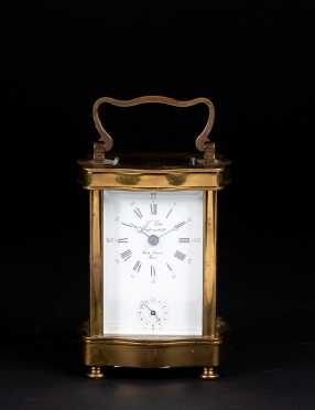 Brass and Glass French Carriage Clock