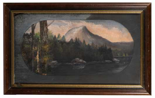 "Primitive Painting ""Moosehead Lake/ Lake Hebron"", Maine"