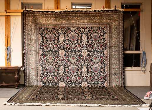 Persian Kerman Room Size Oriental Rug