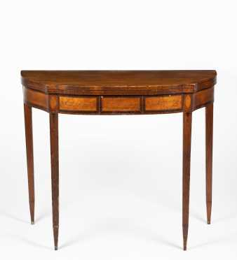 New Hampshire Mahogany Card Table