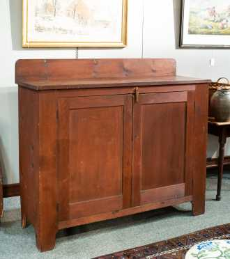 19thC Pennsylvania/ New York Stained Country Sideboard