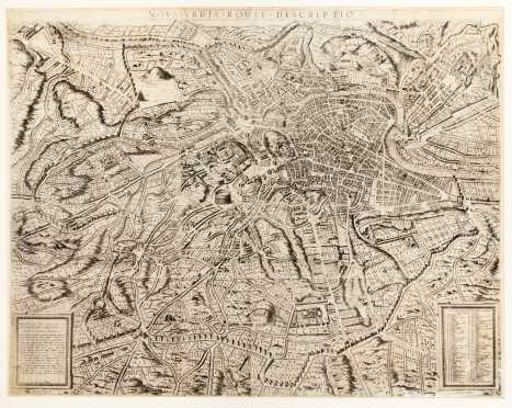 "Map of Rome: ""Nova Urbis Romae Descriptio"" by Etienne Duperac"