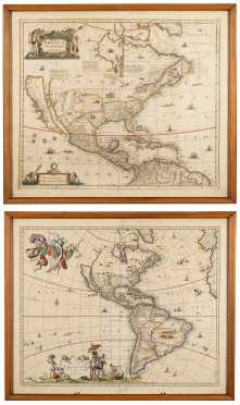 Two Maps of Early America Showing California as an Island