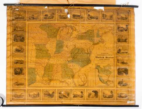 Alden's Pictorial Map of the United States of North America