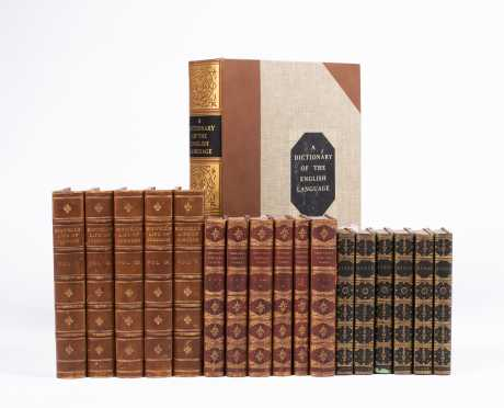 Three Leather-Bound Sets Plus One