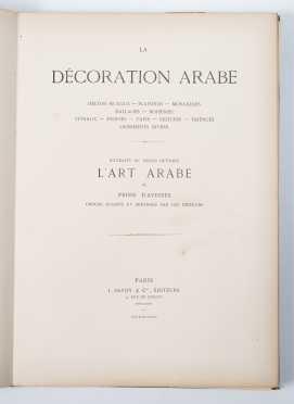"""Emile Prisse d'Avennes, """"La Décoration Arabe"""""""