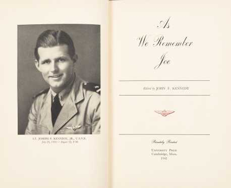 Rare Joe Kennedy Jr. Inscribed Memorial Volume