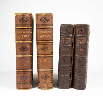 Two Large Leather-Bound Sets