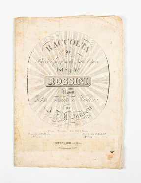 "18thC Printed ""Rossini"" Music Score"