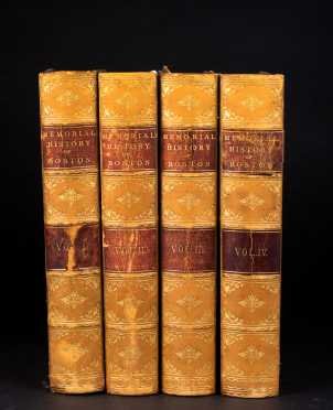 """The Memorial History of Boston Including Suffolk County, Massachusetts 1630-1880,"" 4 Vols."