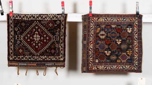Two Caucasian Tribal Saddle Bags