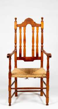 New Hampshire Crest Bannister Back Armchair