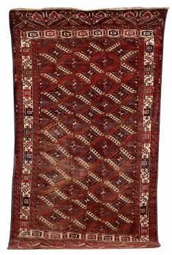 L19thC Yomut Small Room Size Oriental Rug