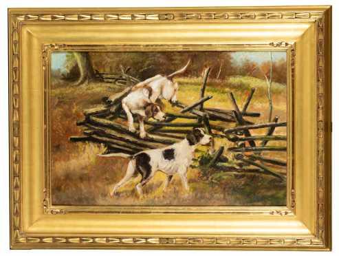 R. Bortner, American E20thC, Sporting Painting
