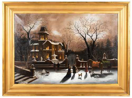 """Christmas Eve 1862"" Oil Painting"