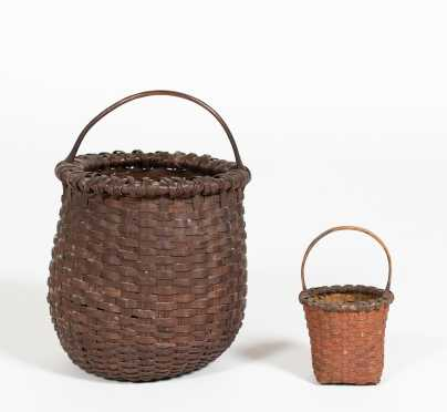 Two Painted Handled Baskets