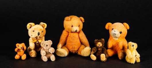 even Vintage and Old Miniature Teddy Bears