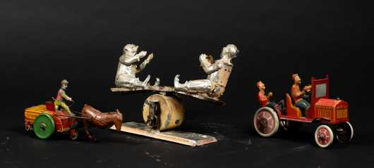 Three Tin Litho Toys