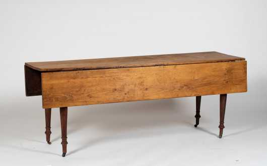 19thC Painted Sheraton Six Foot Harvest Table