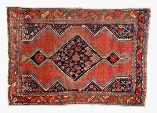 Antique Caucasian Oriental Scatter Rug