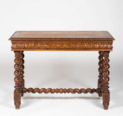 L19thC Oak French Writing Table
