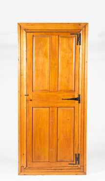 American Pine One Door Corner Cupboard