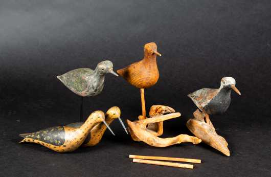 Five Shorebird Decoys