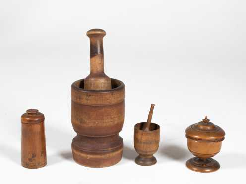 Four Pieces of Treenware
