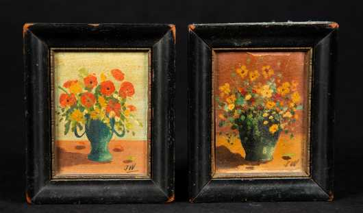Pair of Miniature Still Lifes