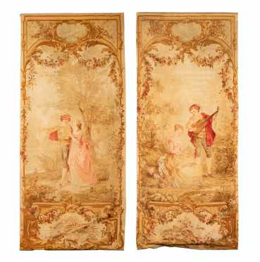 Pair of French Aubusson Tapestries