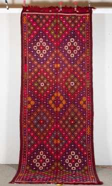 Turkish Sumak/ Kilim Corridor Oriental Rug