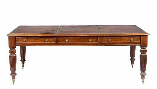 Fire Arms Manufacturer: William B. Ruger Sr.'s Personal English Mahogany 19thC Library Table