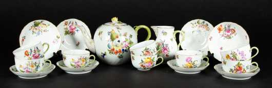 """Herend"" Porcelain Partial Tea Set"