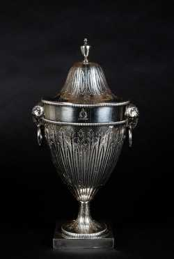English Silver Plated Urn Form Wine Cooler