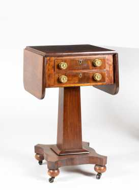American Empire Mahogany Writing Stand