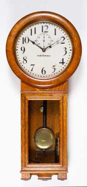 Seth Thomas Oak Wall Clock