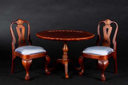 Miniature Mahogany Queen Anne Style Furniture *AVAILABLE FOR REASONABLE OFFERS*