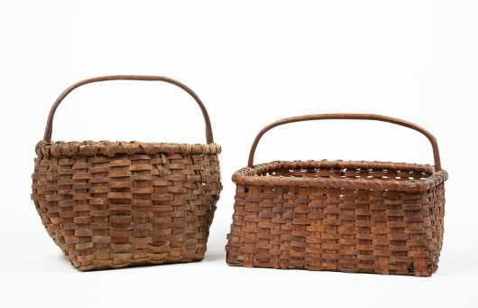 Two Handled Splint Baskets